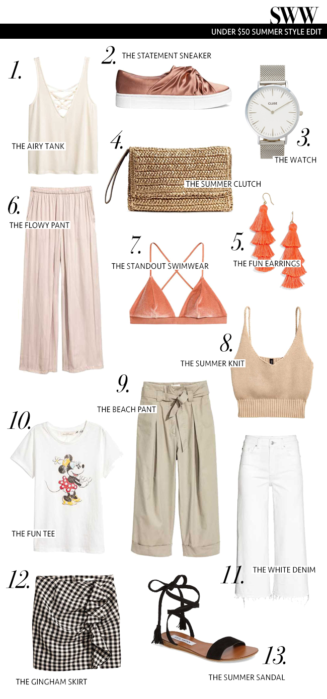 Under $50 Summer Style Edit